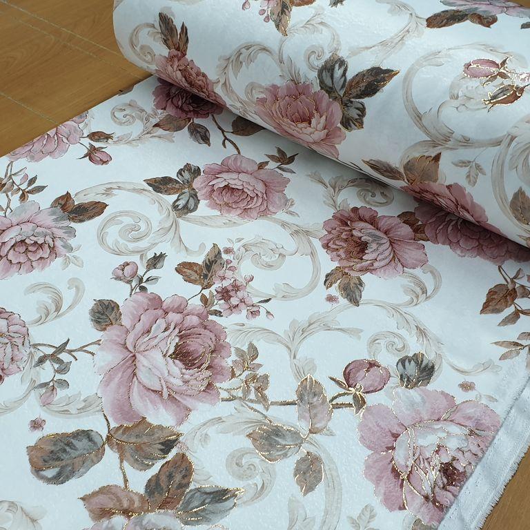 Купить ткань для штор с цветами ободок с бантом